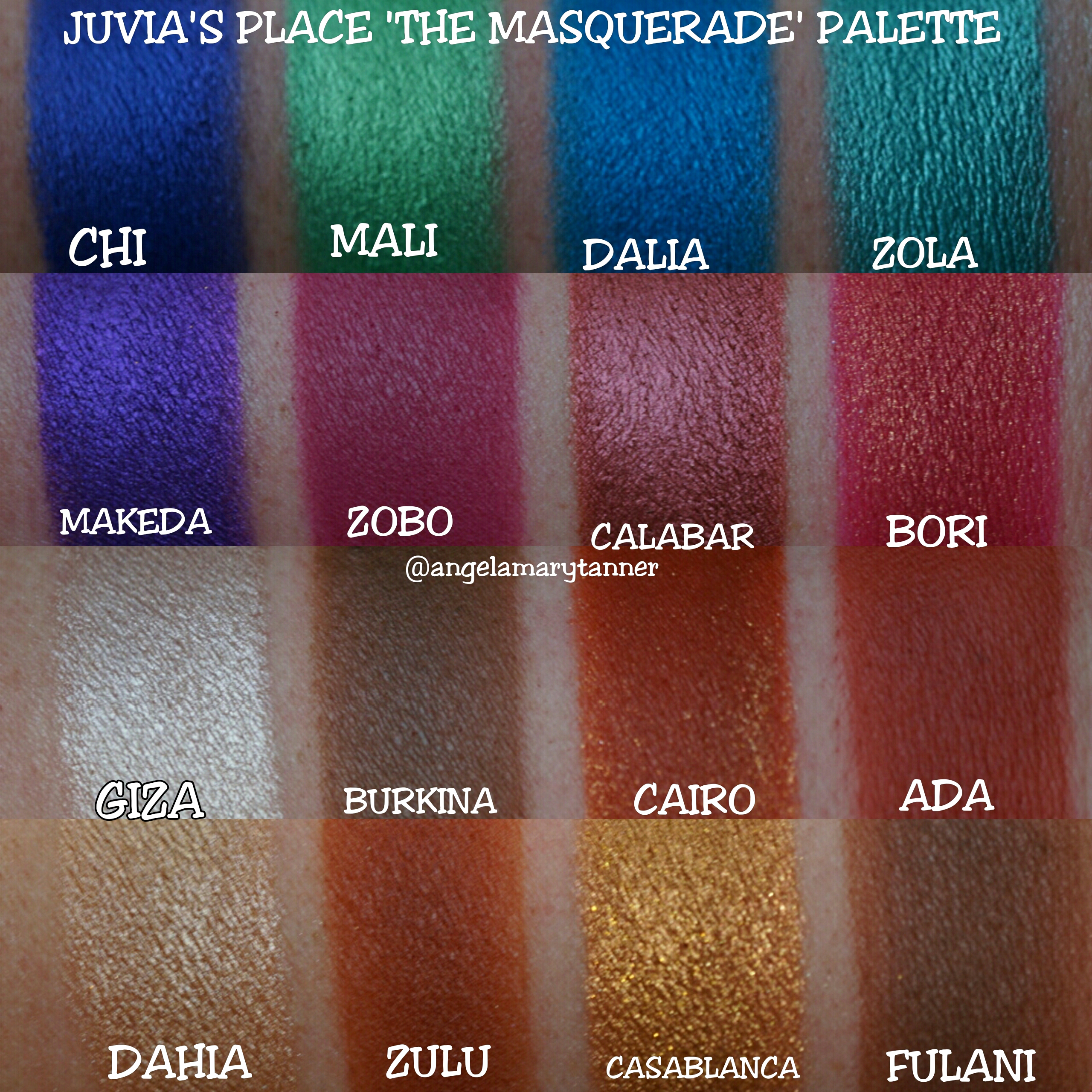 Image result for The masquerade Eye shadow SWATCHES