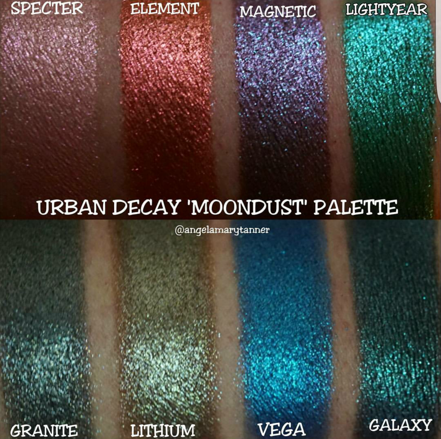 URBAN DECAY MOONDUST PALETTE REVIEW AND SWATCHES ($49)