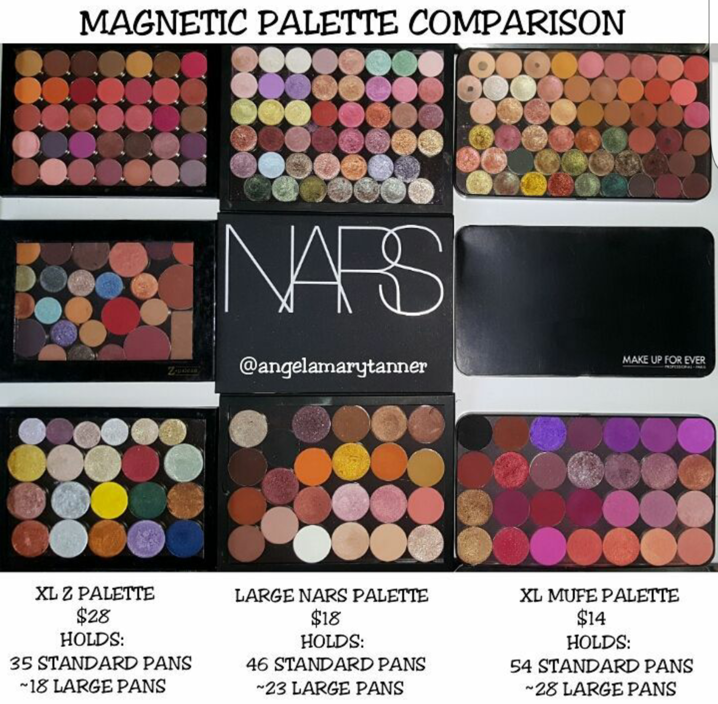Ladies and gentlemen, I proudly present to you… my MAGNETIC PALETTE COMPARISON! I know there are other options out there. I also have a bunch from MAC and ...