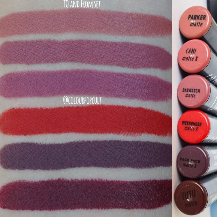 Colourpop Cosmetics To And From Lippy Stix Set Swatches