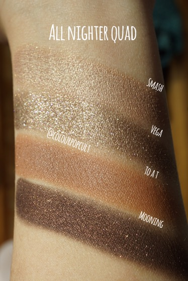 Colourpop Cosmetics All Nighter Quad Our Beauty Cult
