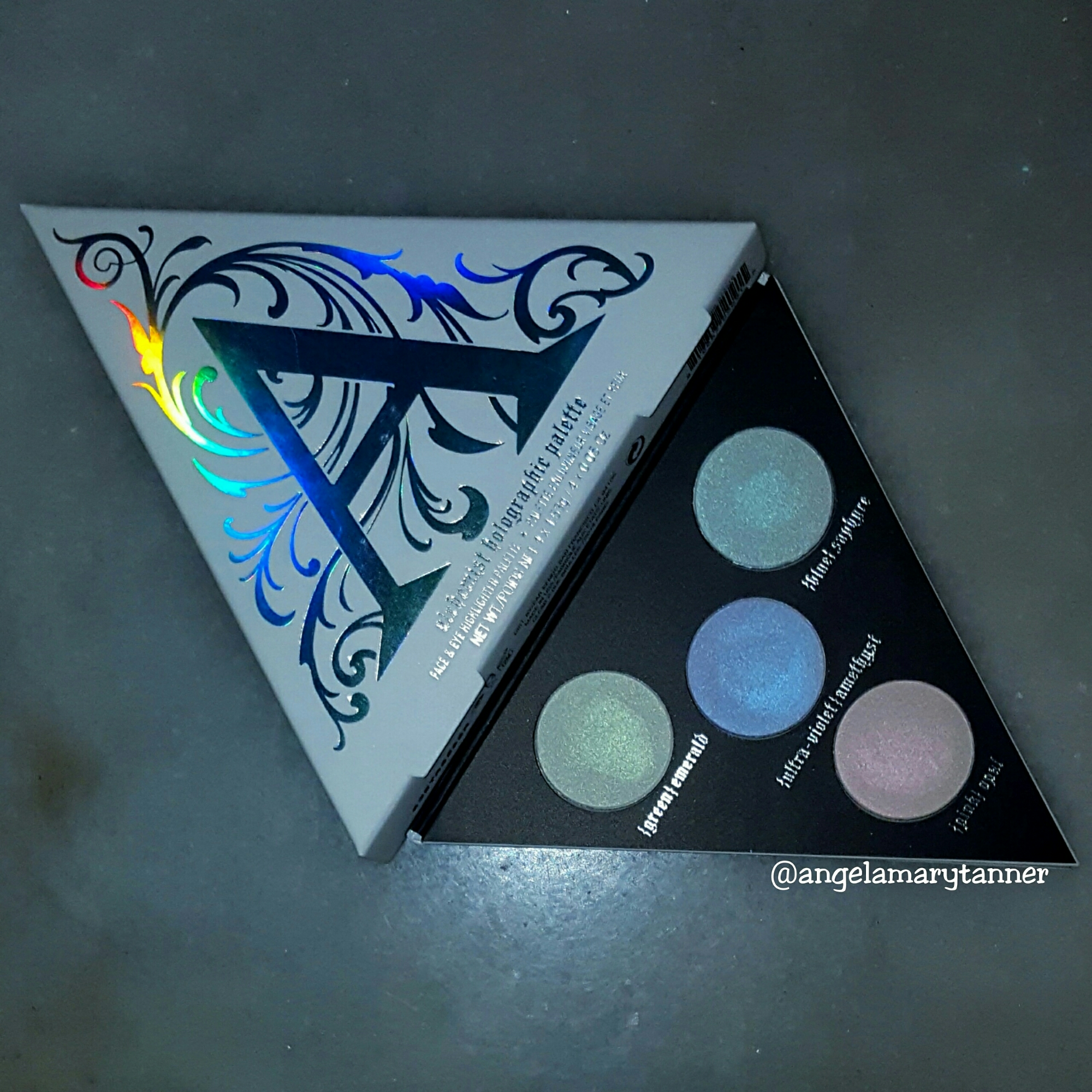 kat von d alchemist holographic palette review and swatches