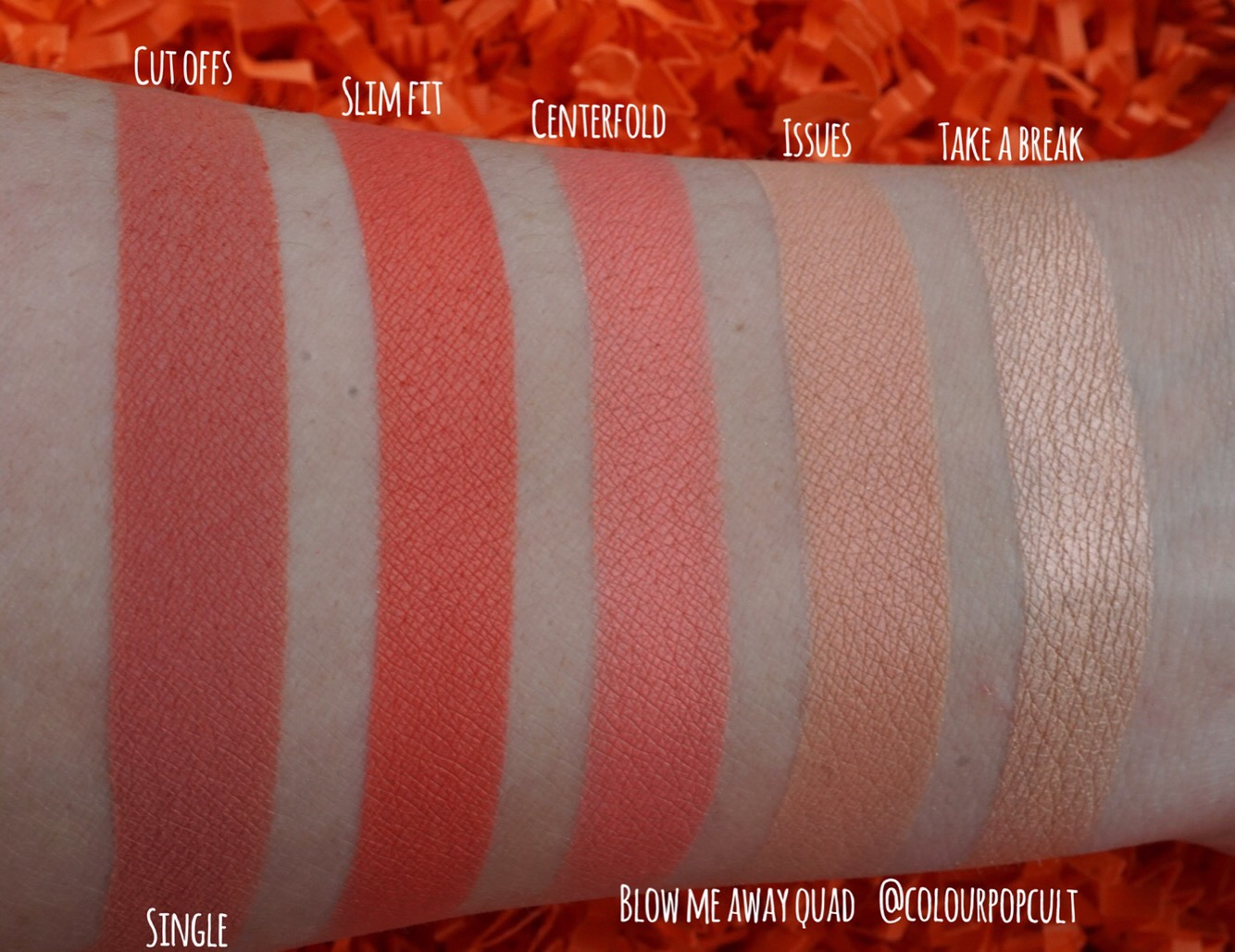 Colourpop Nectar Collection Spring Phase 1 Swatches