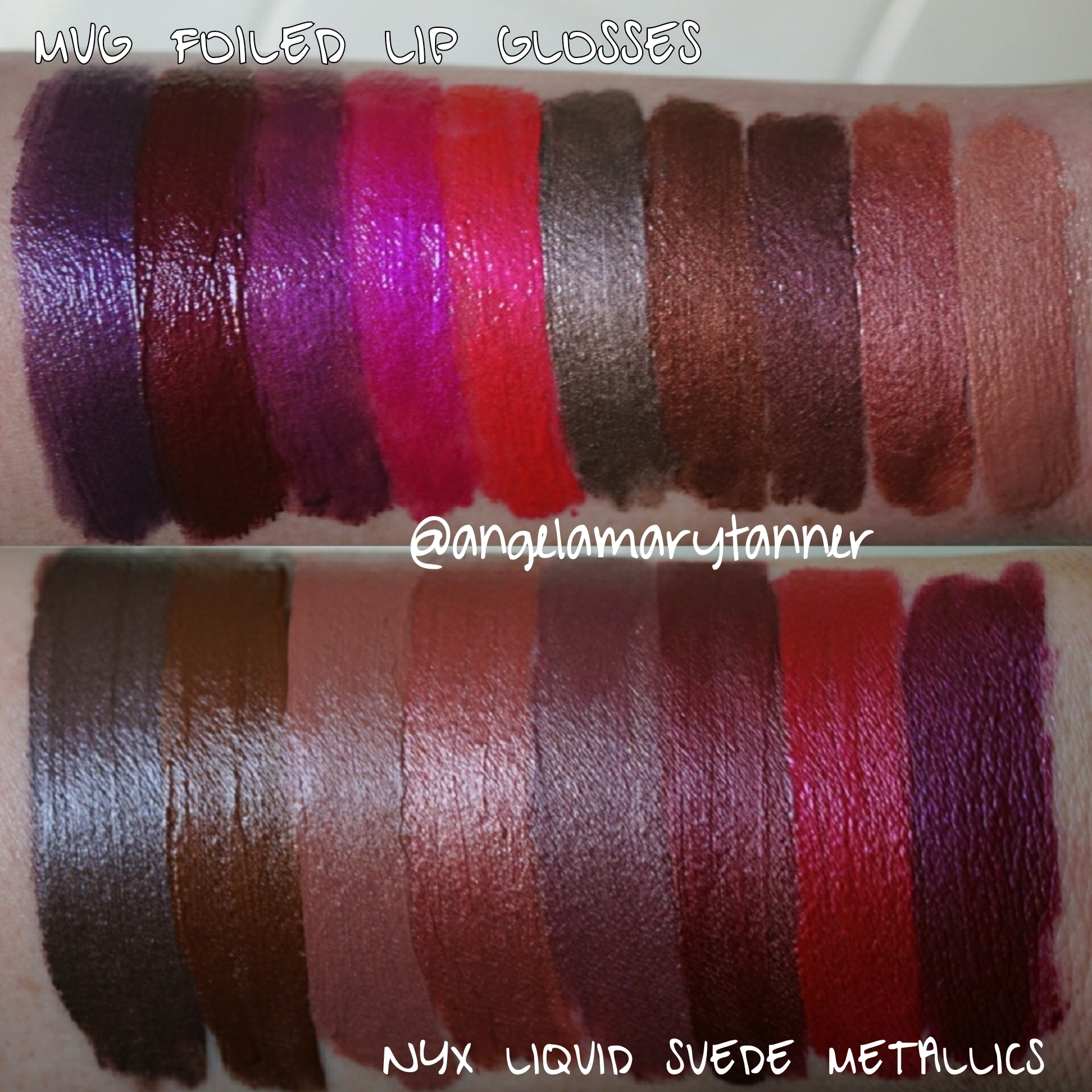 Nyx Professional Makeup Liquid Suede Metallics Review And Swatches