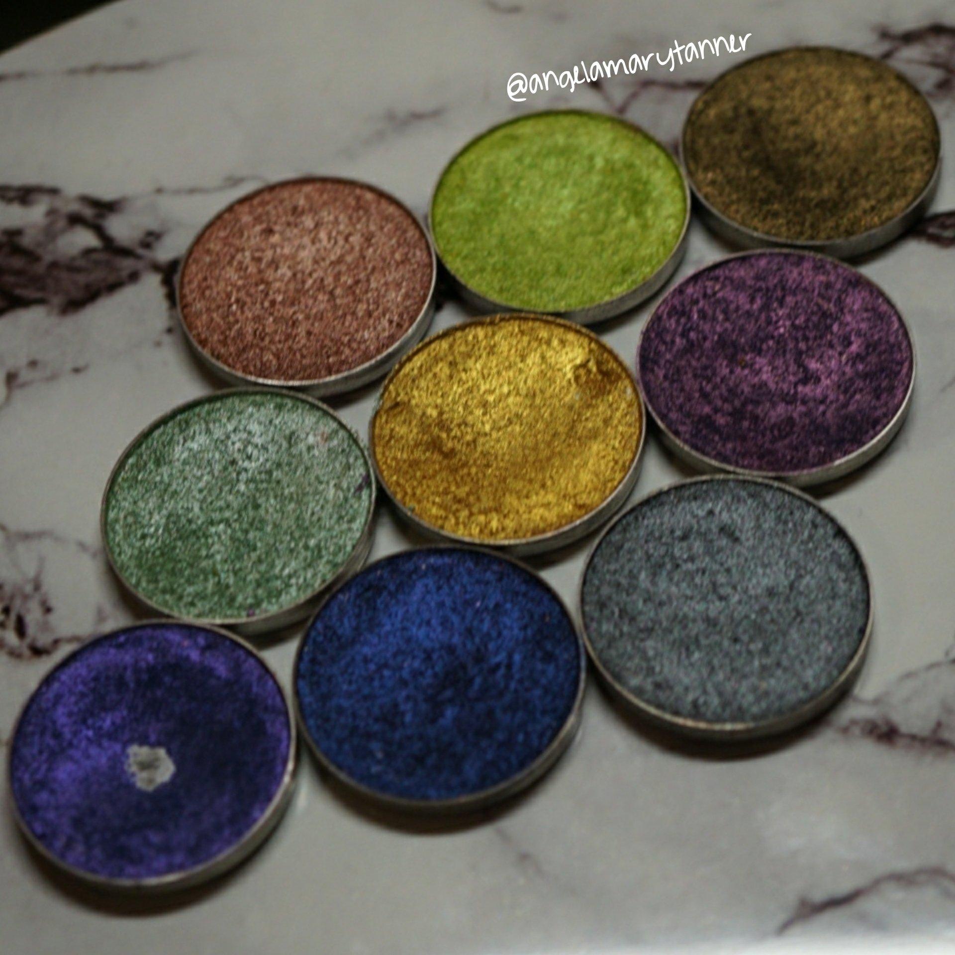 Makeup Geek Mardi Gras Foiled Kit Swatches