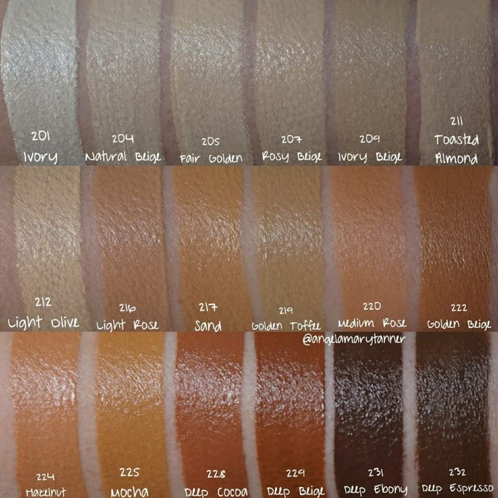 Makeup revolution new foundation swatches