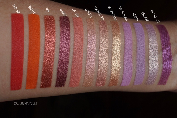 ColourPop's Festival Collection: eyeshadow swatches – Our