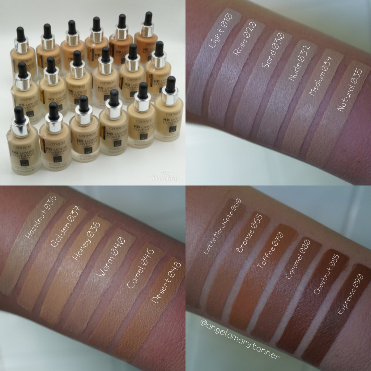 Catrice Cosmetics HD Liquid Coverage Shade Extension (18 shades): Review and Swatches