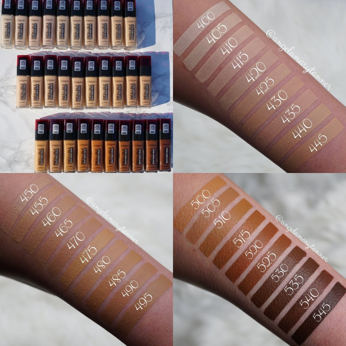 New L'Oreal Infallible Fresh Wear 24HR Foundation: Review and Swatches (All 30 shades)